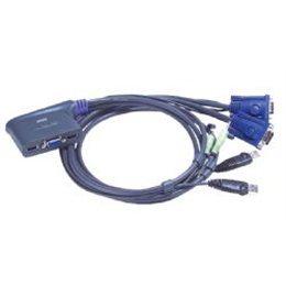 Stikalo KVM 2:1 VGA/USB/AUDIO CS62US